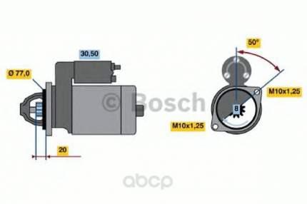 Стартер Bosch 0986016001