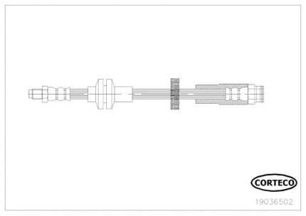 Шланг тормозной системы CORTECO 19036502