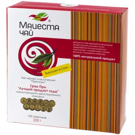 Чай Мацеста премиум черный классический  100 пакетиков