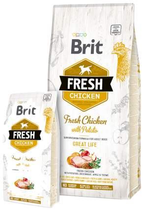 Сухой корм для собак Brit Fresh Great Life, курица и картофель, 12кг