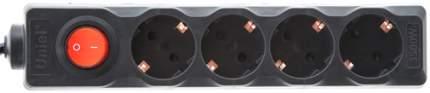Удлинитель Uniel S-GCD4-3B, 4 розетки, 3 м, Black