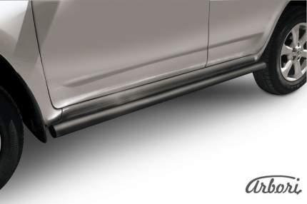 Защита порогов d57 труба Arbori черн. для Toyota RAV4 2010-2014