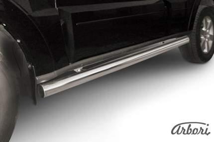 Защита порогов d76 труба Arbori нерж. сталь для Mitsubishi PAJERO IV 2014-нв