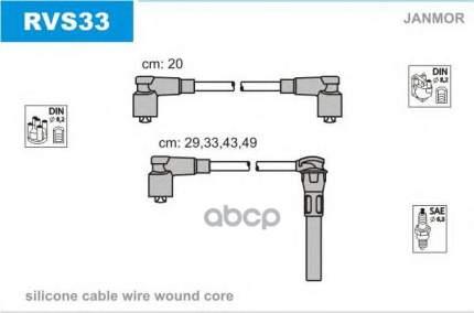 Комплект проводов зажигания JANMOR RVS33