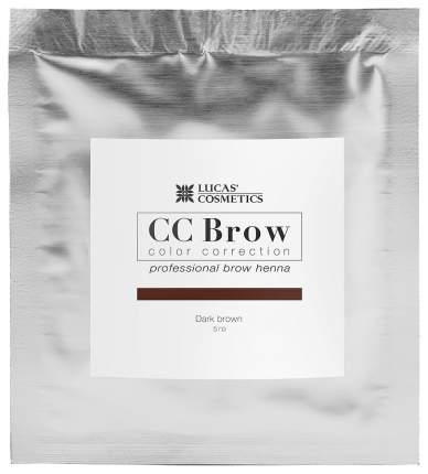 Хна для бровей Lucas' Cosmetics CC Brow в саше dark brown 5 г