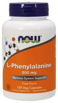 Для нервной системы NOW L-Phenylalanine 500 мг 120 капсул