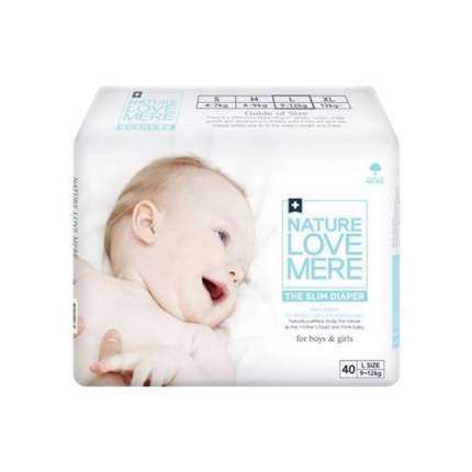 Подгузники Nature love mere slim premium diaper l 9-12 кг, 40 шт.