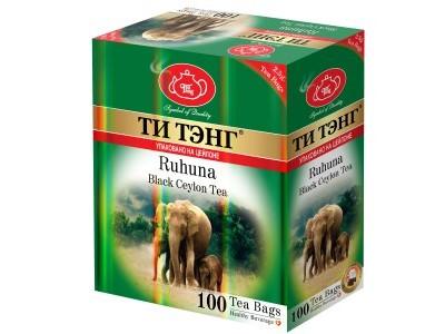 Чай черный в пакетиках для чашки Ти Тэнг Ruhuna 100*2.5 г