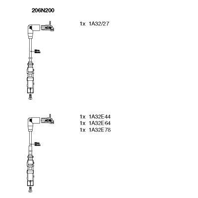 Комплект проводов зажигания BREMI 206N200