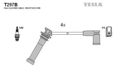 Комплект проводов зажигания TESLA T297B