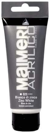 Акриловая краска Maimeri Acrilico белила цинковые 500 мл