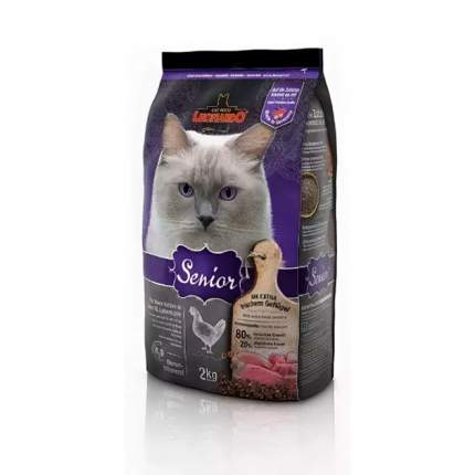 Сухой корм для кошек Leonardo Senior, для пожилых, курица, 2кг
