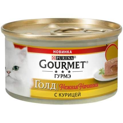 Консервы для кошек Gourmet Gold, курица, 12шт, 85г