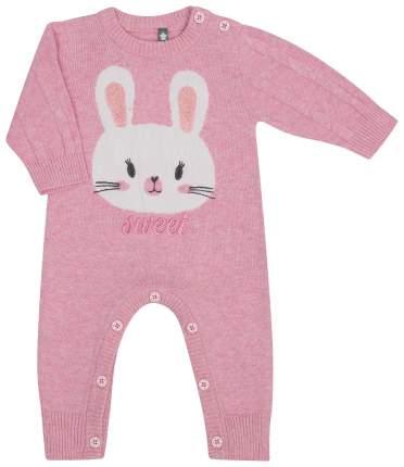 Комбинезон для девочки Be2Me Pink rabbit, розовый р.62