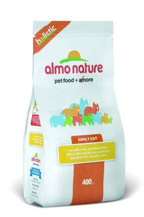Сухой корм для кошек Almo Nature Holistic, курица и коричневый рис, 0,4кг