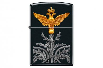 Зажигалка Zippo 218 Russian Coat Of Arms Black Matte