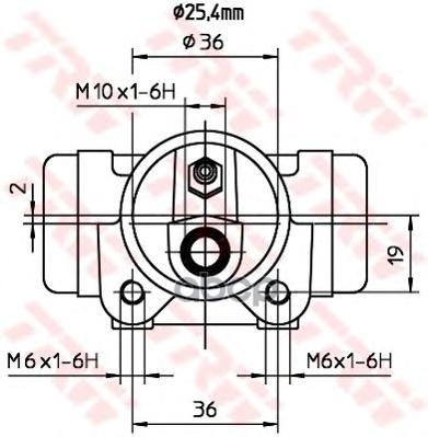 Тормозной цилиндр TRW/Lucas BWL204