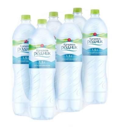 Вода Калинов Родник артезианская негазированная пластик 1.5 л 6 штук в упаковке