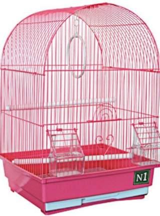 Клетка для птиц №1, овальная, укомплектованная, 35 х 28 х 49 см