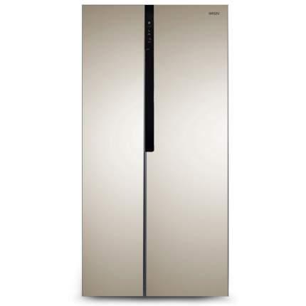 Холодильник Side-by-Side Ginzzu NFK-440 Gold