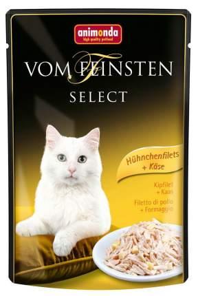 Влажный корм для кошек Animonda Vom Feinsten Select, курица, сыр, 85г