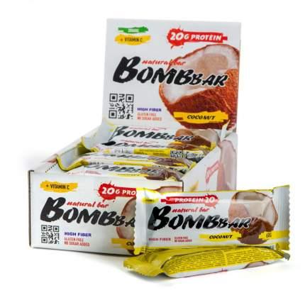 Батончик протеиновый Bombbar (коробка 20 шт.), Кокос