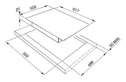 Встраиваемая варочная панель газовая Smeg PGF64-4 Silver