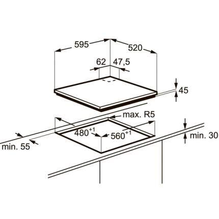 Встраиваемая варочная панель газовая Electrolux EGT97353YW White
