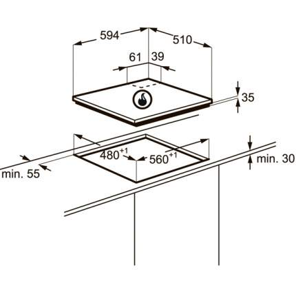 Встраиваемая варочная панель газовая Zanussi ZGX565414W White