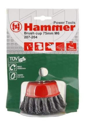 Чашечная кордщетка для дрелей, шуруповертов Hammer Flex 207-204 (32444)