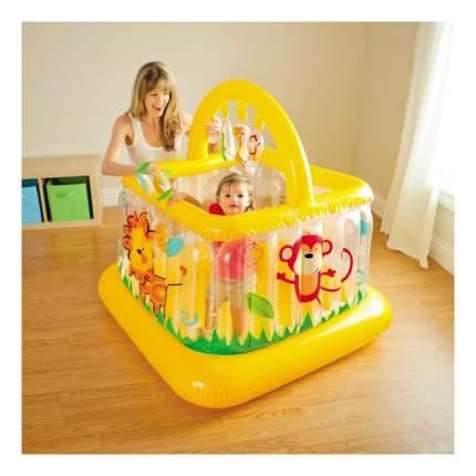 Intex детский надувной манеж 117х117х117см