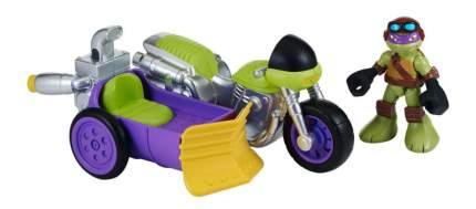 Фигурка черепашки-ниндзя донни с мотоциклом, серия half shell hero