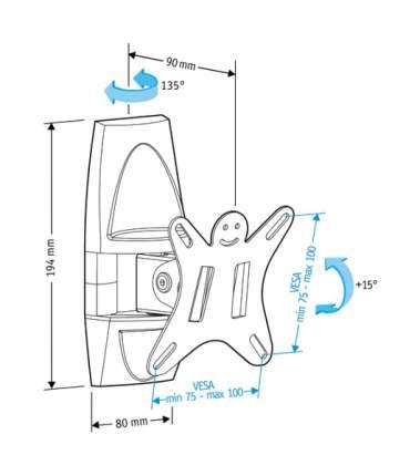 Кронштейн для телевизора Holder LCDS-5003 Black