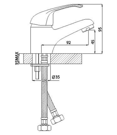Смеситель для раковины Rossinka Silvermix A35-11 хром