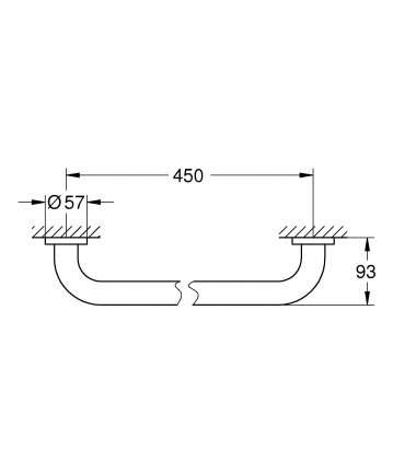 Ручка для ванной GROHE Essentials 450 мм, хром