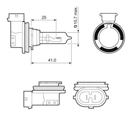 Лампа галогенная VALEO 65W PGJ19-5 32011