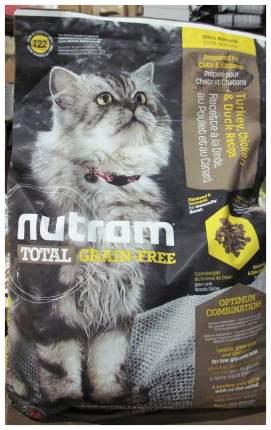 Сухой корм для кошек и котят Nutram TOTAL Grain Free, курица, индейка, 6,8кг
