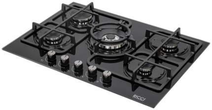 Встраиваемая варочная панель газовая RICCI RGN-ST 5006 BL Black