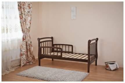Кровать детская Красная Звезда Арсений С 822 с бортиком Шоколад
