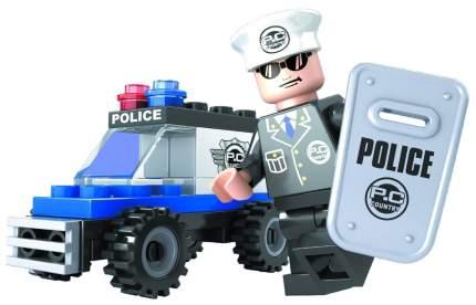 Конструктор пластиковый Ausini Патруль - Полицейский джип, 33 детали