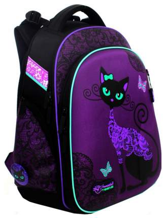 Ранец детский Hummingbird Black Cat для девочек Фиолетовый T71
