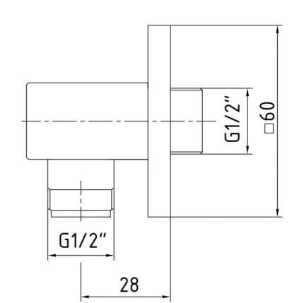 Подключение для душевого шланга E.C.A 102126388EX