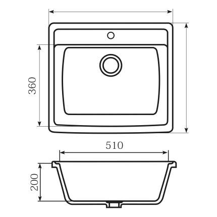 Мойка для кухни мраморная MIXLINE ML-GM15 бежевая