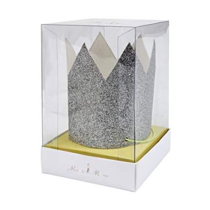 Короны Meri Meri Мерцающее серебро, мини