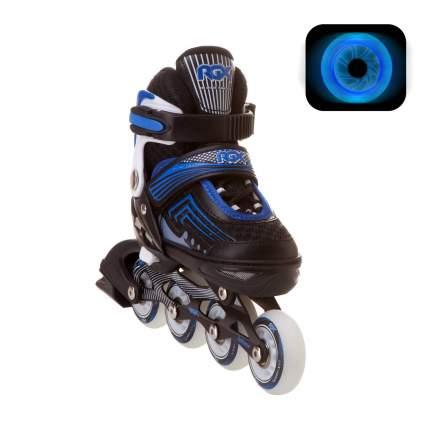 Раздвижные роликовые коньки RGX Atom Blue LED подсветка колес L 38-41