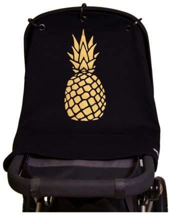 Накидка защитная на коляску и автокресло Pram Curtain Pineapple Gold Black