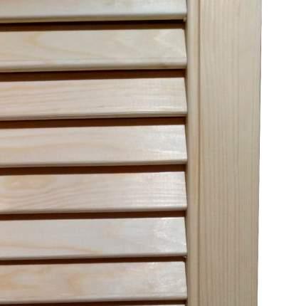 Ширма деревянная жалюзийная для комнаты без окраски, ДваДома 3 секционная