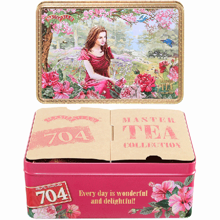Чай Masret Team Шкатулка  Счастливое утро, чер,ч, 150г+ фрукт,ч,100г  ж/б