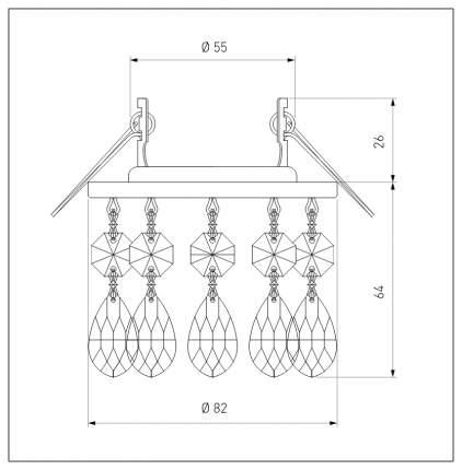 Встраиваемый светильник Elektrostandard 2055 MR16 GD/CL