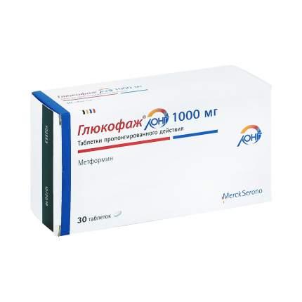 Глюкофаж Лонг таблетки 1 г 30 шт.
